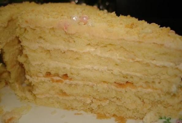 Торт нежный и вкусный с фото
