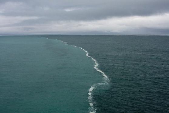 Эти два течения никогда не соединятся, потому что у них разная плотность. Местные жители называют это краем света. Самая... Покорми мозг ©