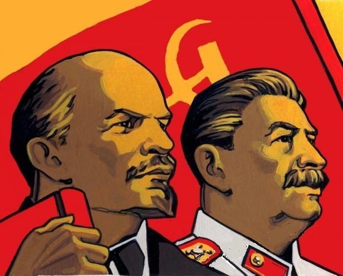 Открытка ленин сталин, смешные