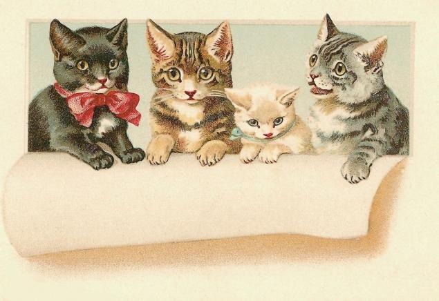 Открытки с котятами ретро