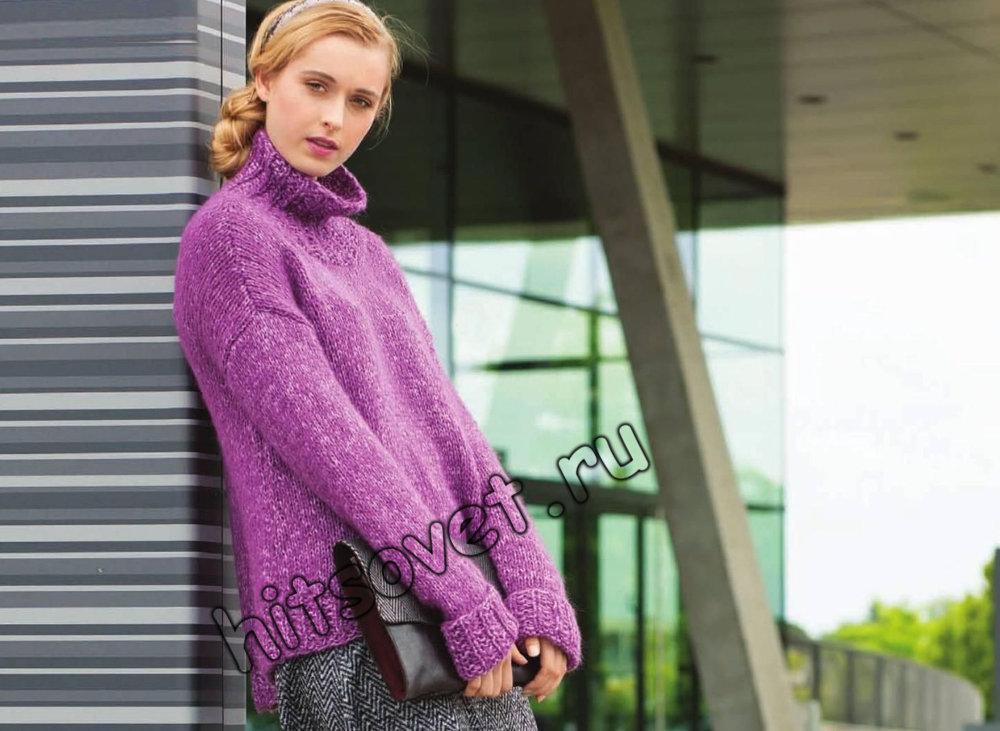 Вязание свитера с удлиненной спинкой