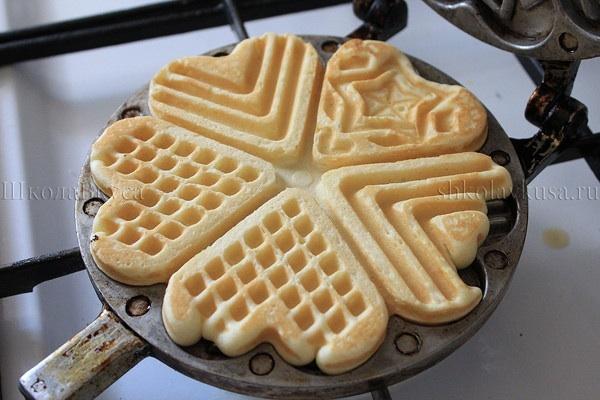 Печенье на двухсторонней сковороде рецепт с фото